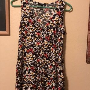 Black and floral dress.